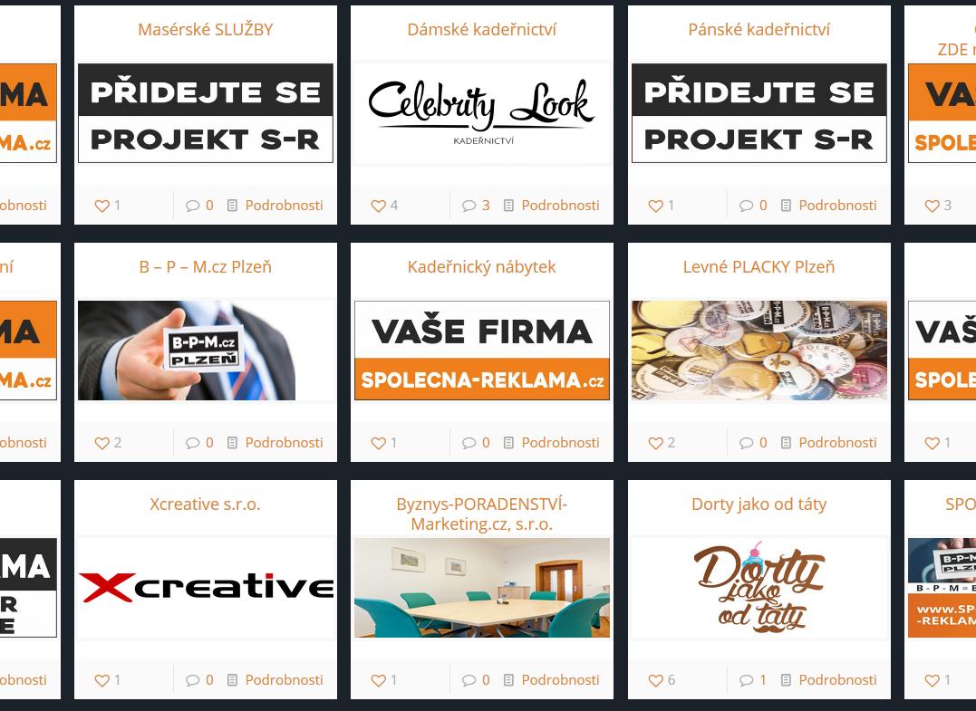 Přehled webů projektu S-R