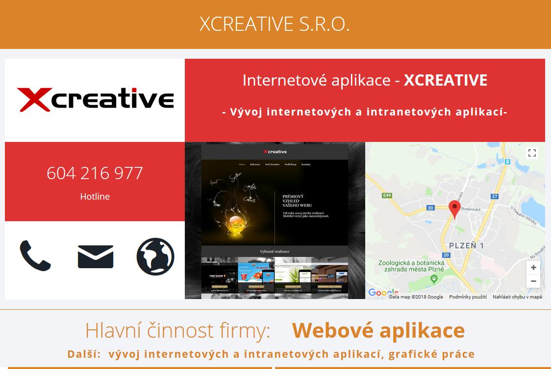 Firemní stránka - XCREATIVE